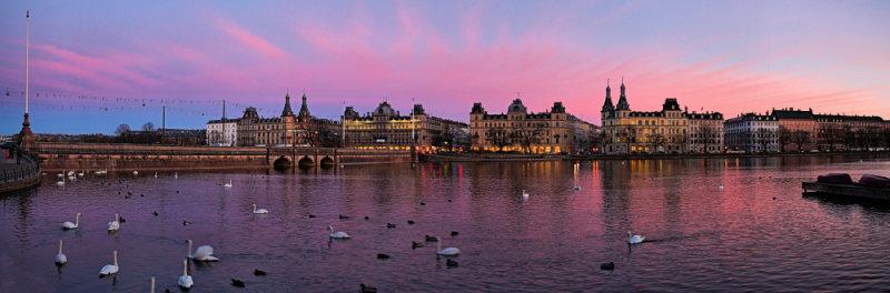 Søtorvet Pink Dusk panorama