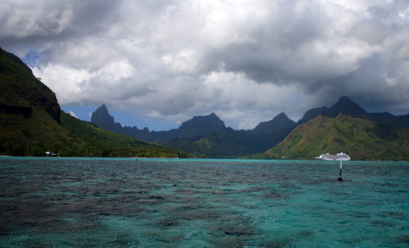 View of Moorea from the lagoon