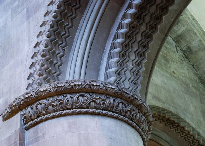 exquisite carving on one of the nave capitals
