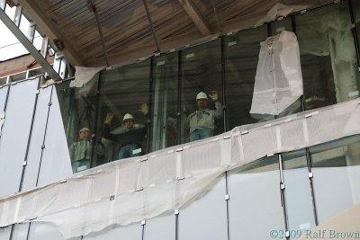Workers Waving Hello