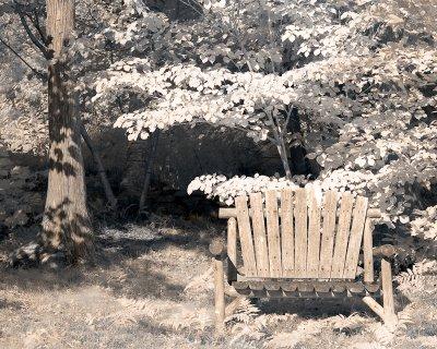 IR Bench and Tree False Color