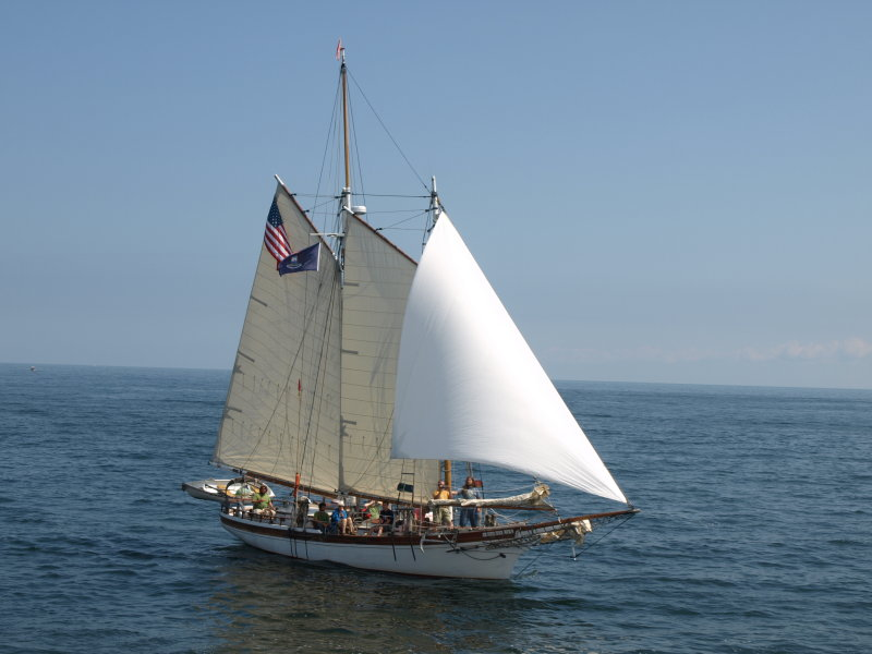 Coaster II Under Sail