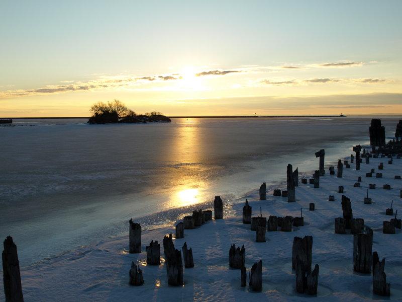 Sunrise on Lower Harbor