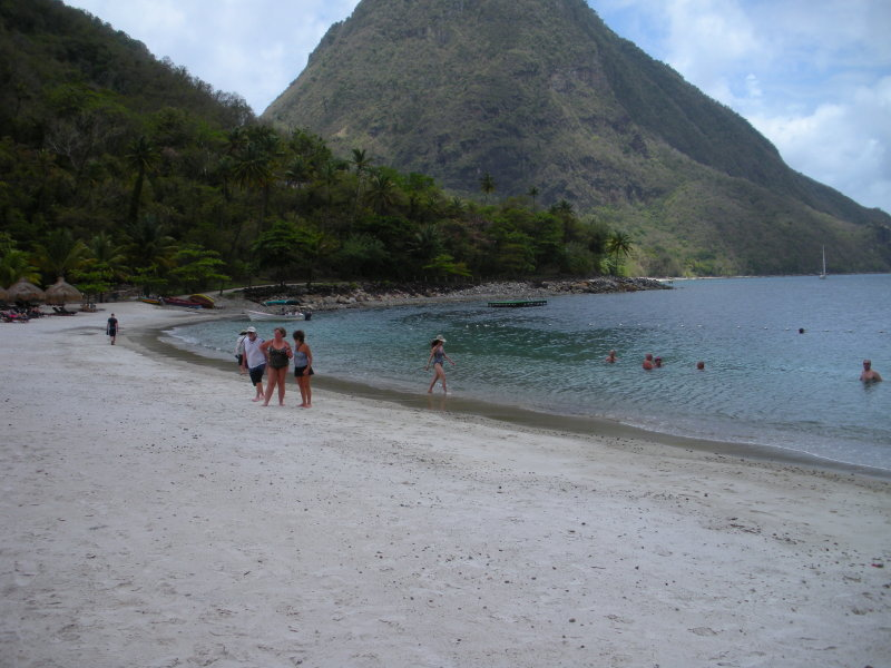 Nice beach at the resort on St. Lucia