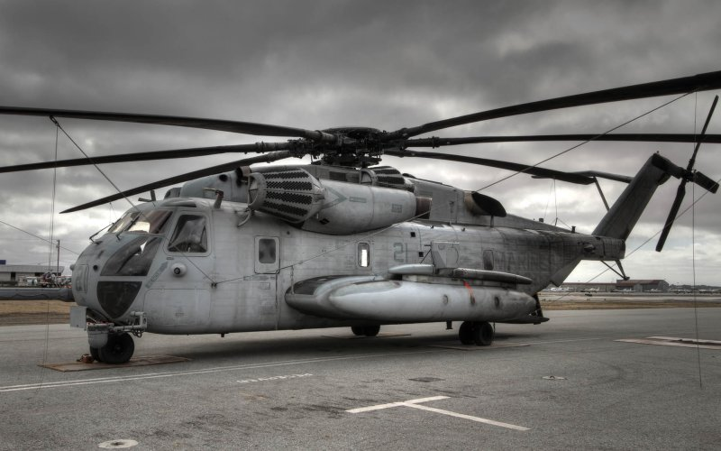 CH 53D From the Side (HDR image)