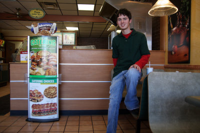 Kyle at Subway