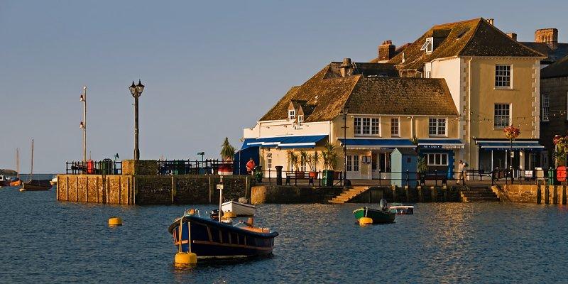 Boats and jetty, Fowey, Cornwall