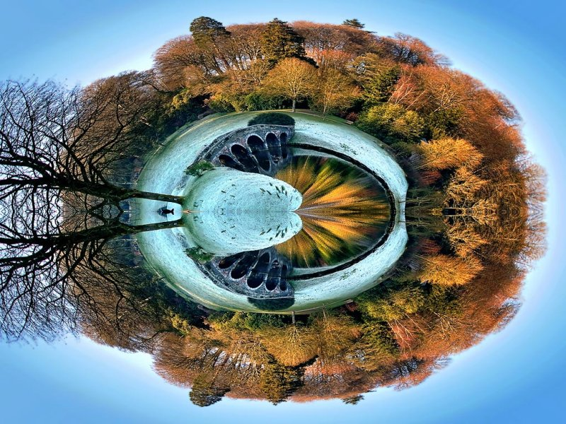 Turf bridge planet, Stourhead (2189)