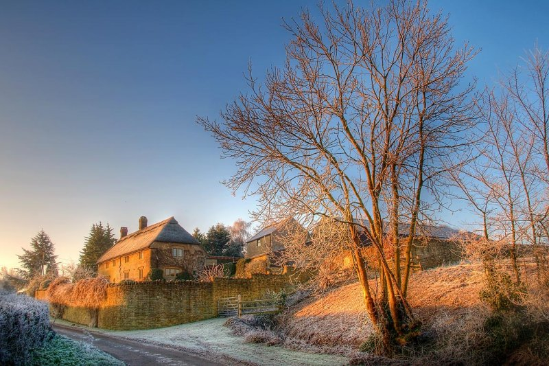 A touch of frost, Witcombe, Somerset