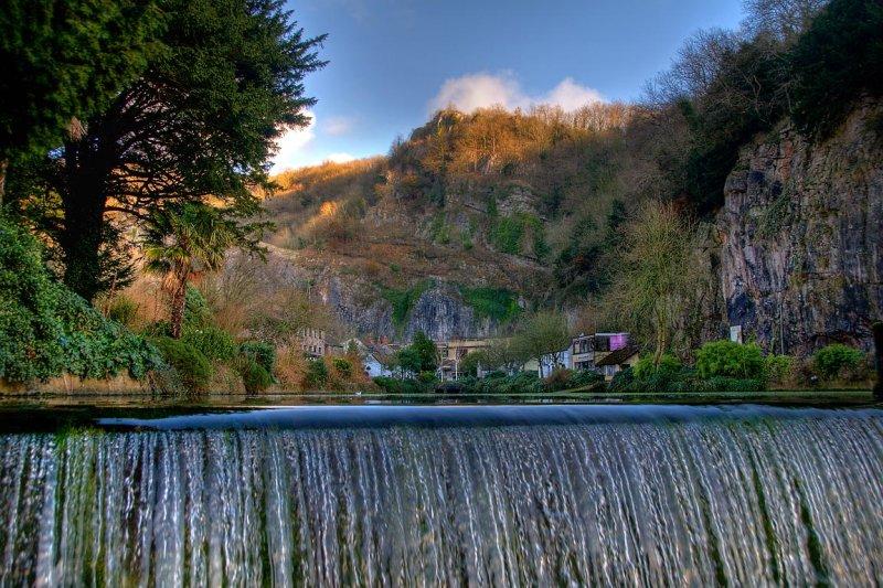 Weir, pond and gorge, Cheddar (2187)