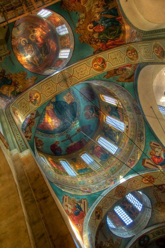 Three domes, Russian church, Cherkasy (1755)