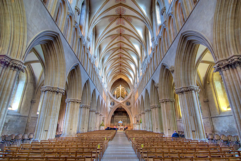 Nave and scissor-arch, Wells Cathedral (305)