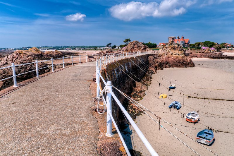 Pier and beach, St. Clement, Jersey