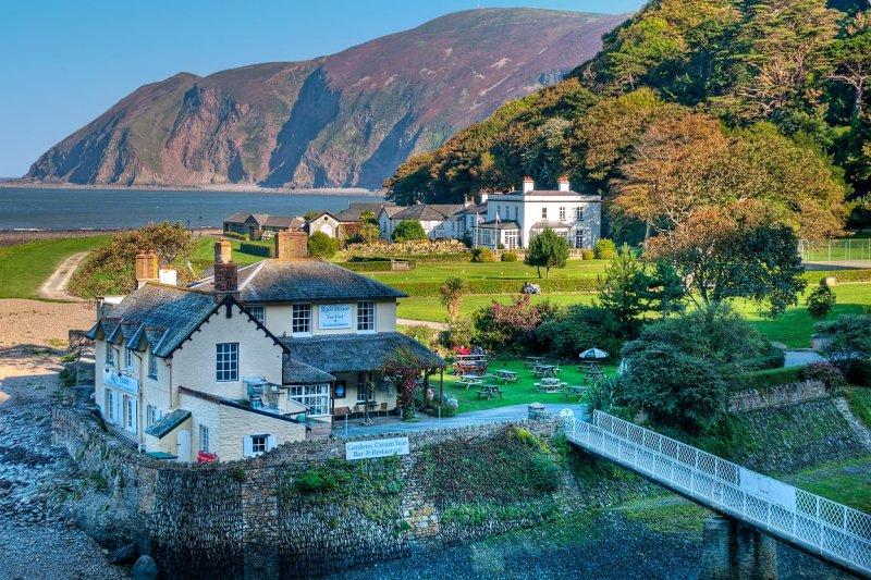 Rock House and bridge, Lynmouth, Devon