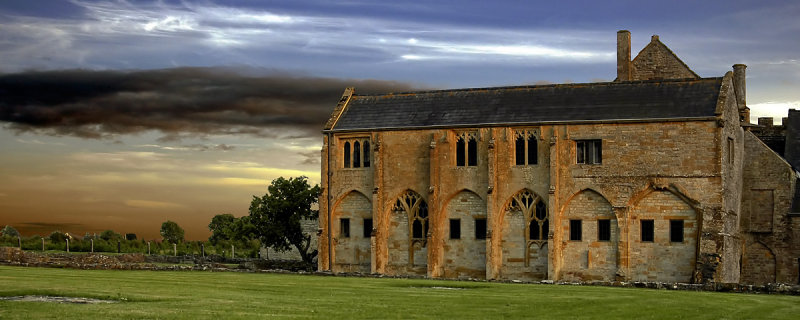 Dusk at Muchelney Abbey (2615)