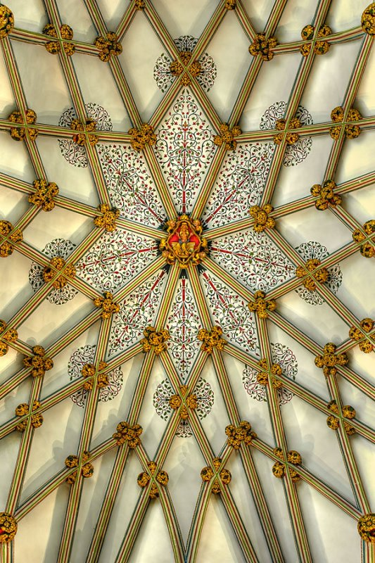 Ceiling detail, Wells Cathedral (4811)
