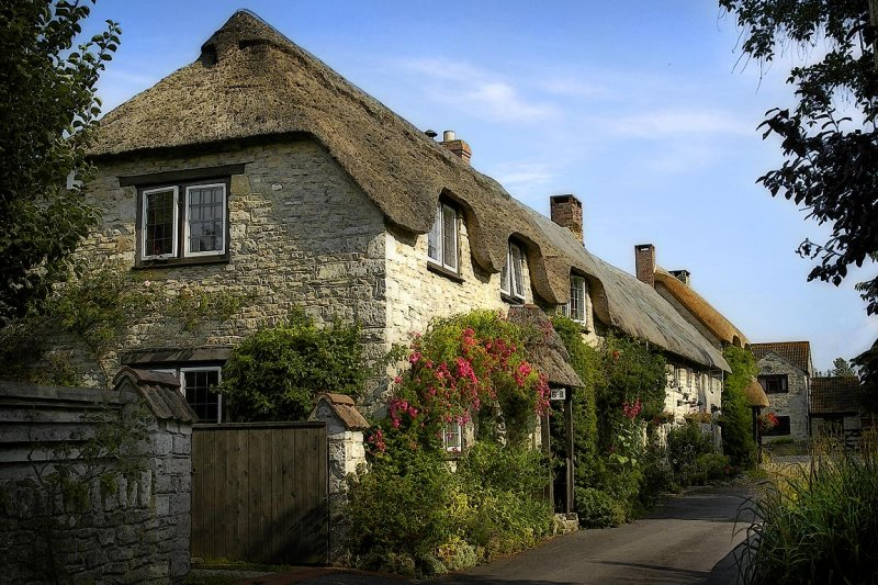 Thatched cottage, Queen Camel (10042)