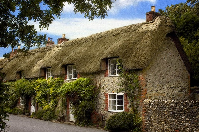 Thatched cottages, Cerne Abbas (6952)