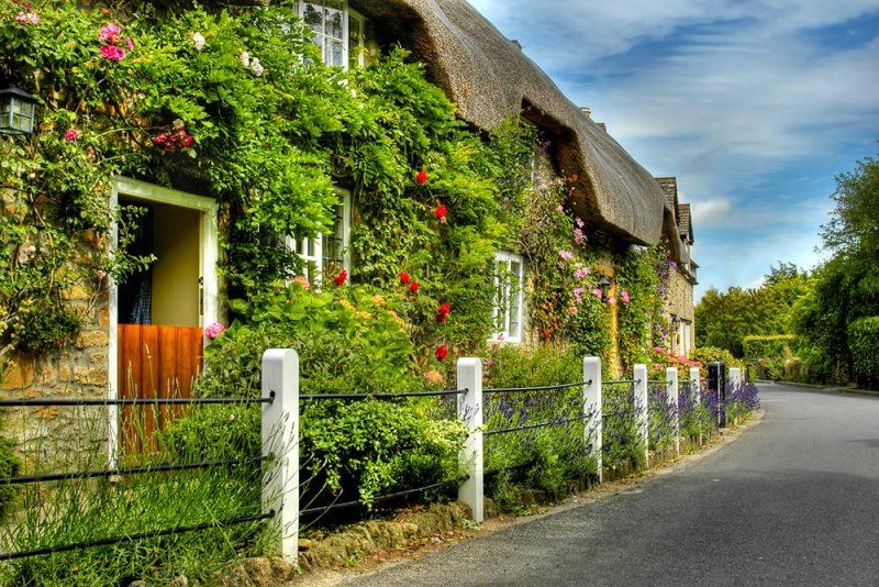 Thatched cottages, East Coker, Somerset