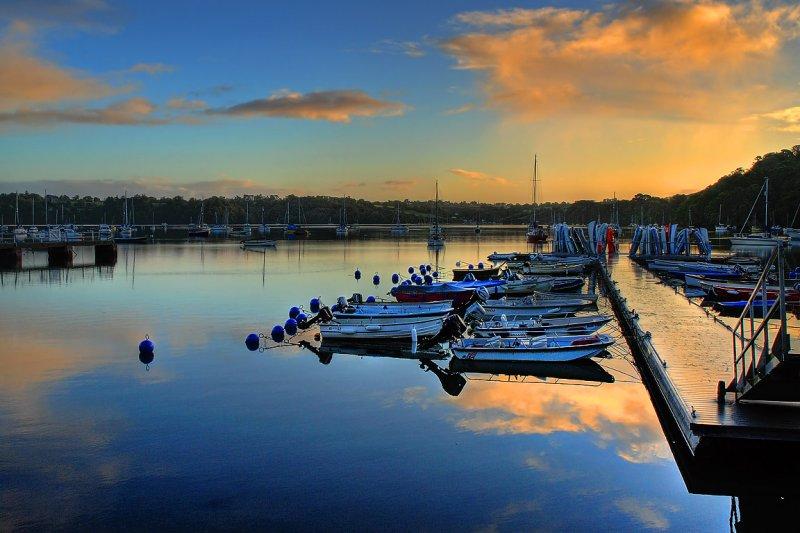 Blue buoys, Dittisham