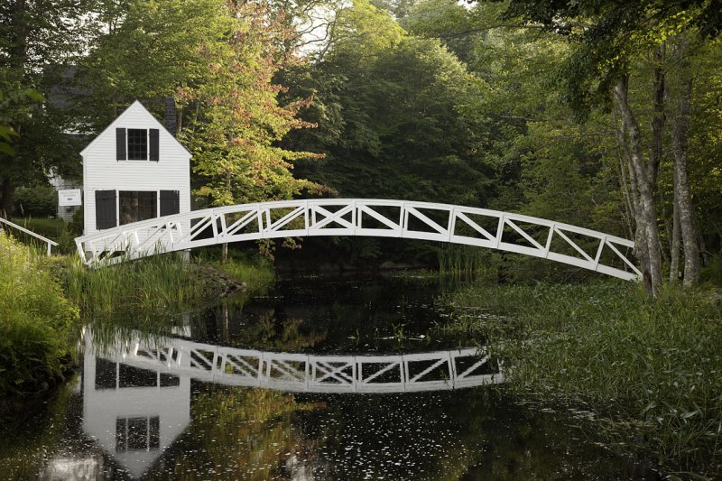 Selectmens Building & Bridge, Somesville, Mount Desert Island