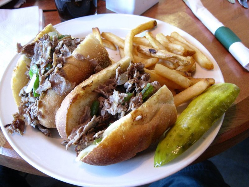 CHEESE STEAK  AT THE AIRPORT IN TUCSON