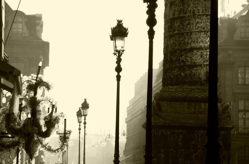 Contre-jour place Vendôme.