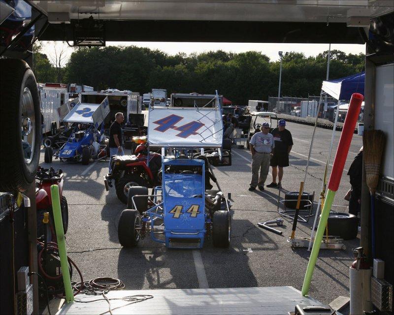#44 Crown Collision Center race car