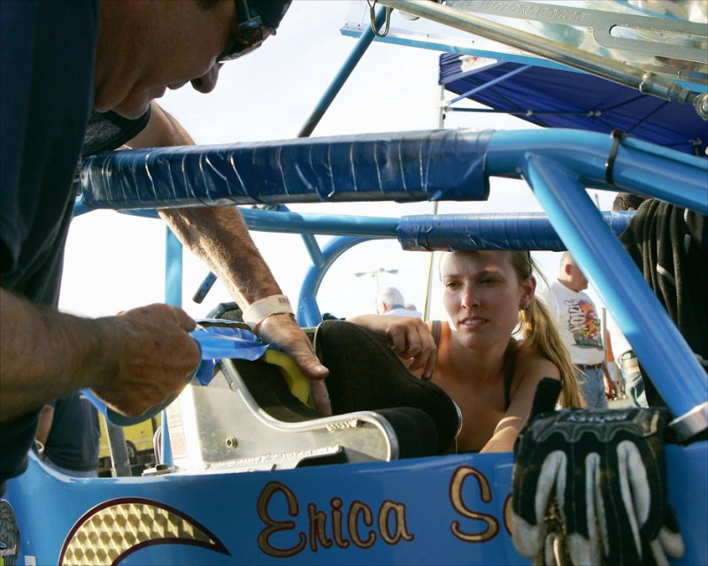 Ed Breault and Erica makes some adjustments