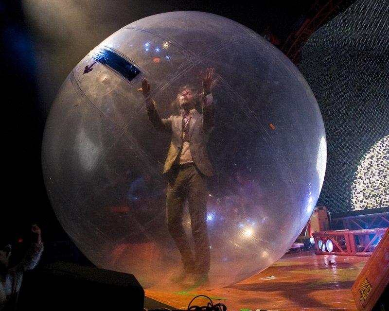 Wayne Coyne in the Bubble