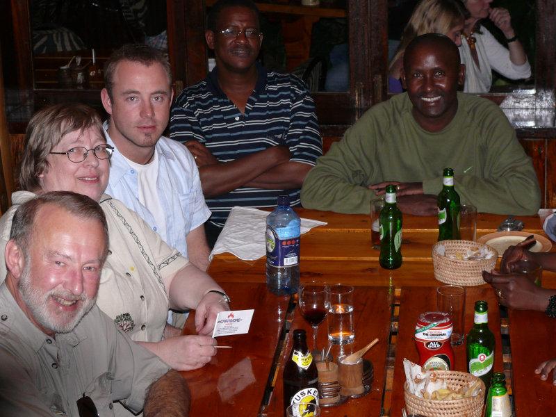 The left hand side of the table - Jim, Lynda, Jamie, Kennedy & Daniel