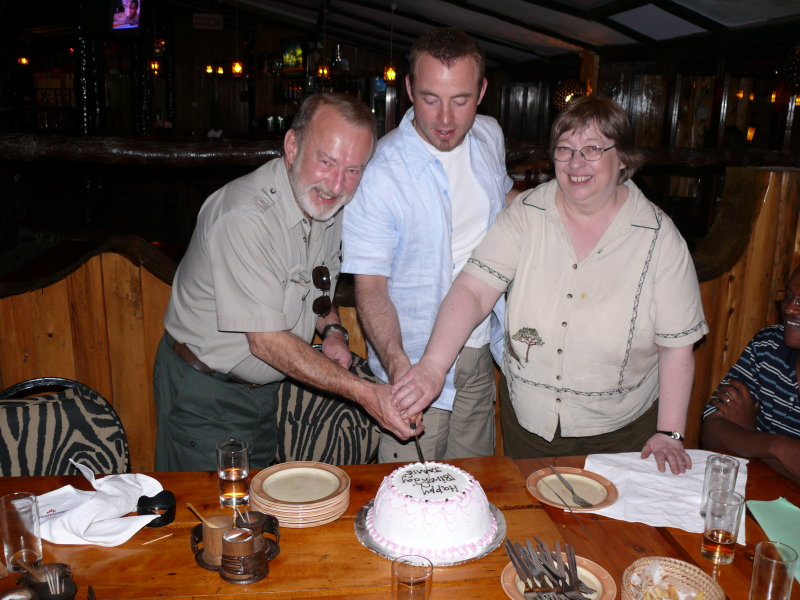 The traditional cutting of the cake - again!