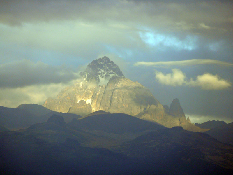Mt Kenya was pretty clear this afternoon at one point