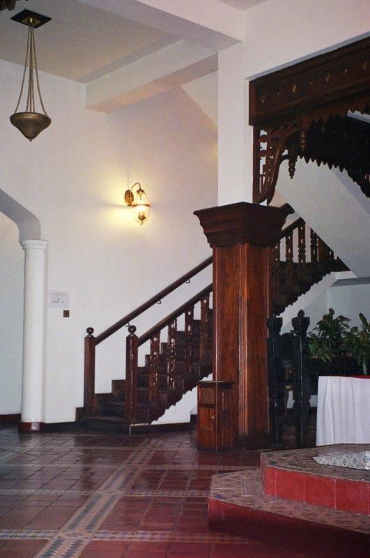Stairs leading up from the Zanzibar Serena lobby (3 flights)