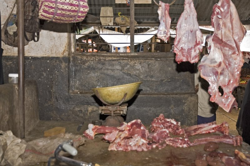 One of the butcher stalls