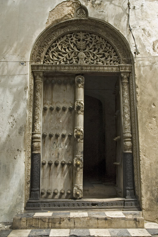 Ornate Arabic doorways are all over Stone Town.  This is the entrance to Tipu Tipus house