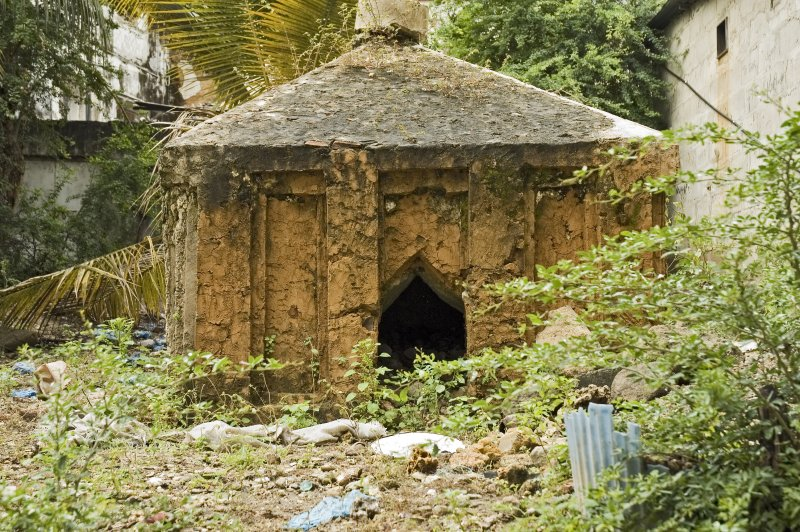 Tipu Tipus mausoleum.  He was Zanzibars most infamous slave trader