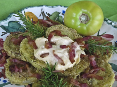 Fried Green Tomatoes with Garlic Mayonnaise