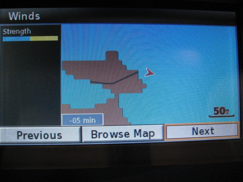 Wind speed screen