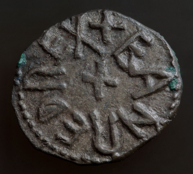 The Kingdom of Northumbria, Eanred copper styca from the Bolton Percy Hoard, found 1847.