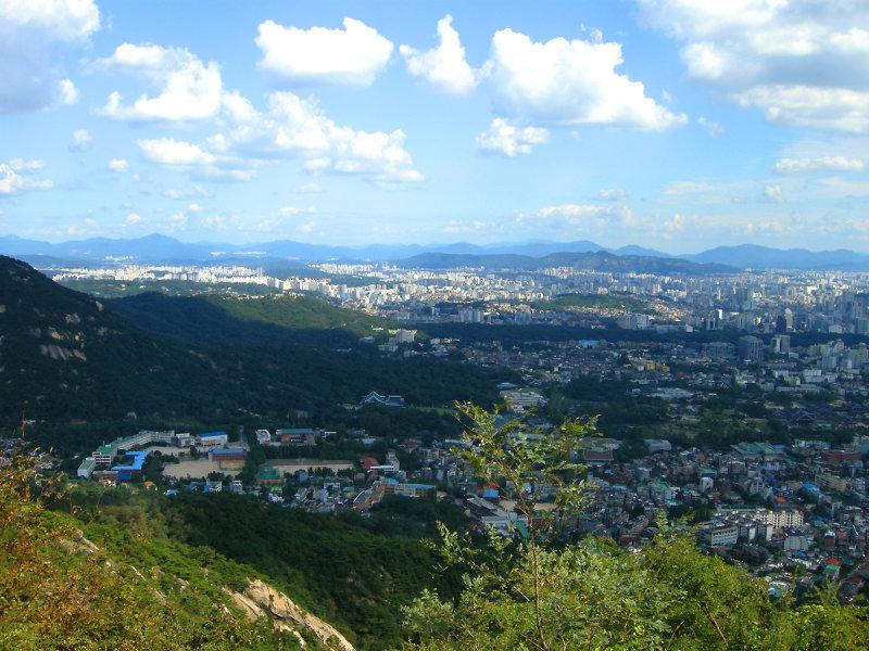 Seoul under clouds