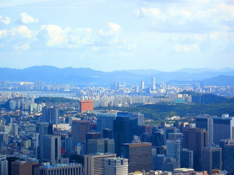 World Trade Center across the Han River