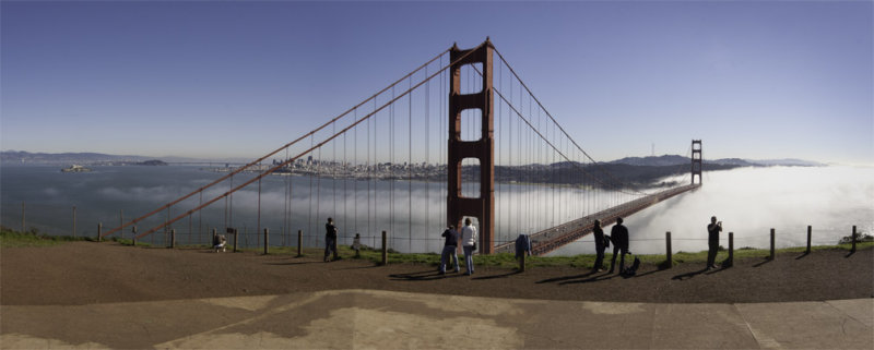 panorama, golden gate bridge