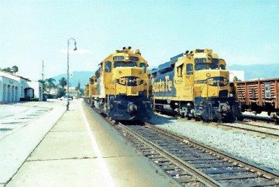 ATSF Freight at Pasadena Depot