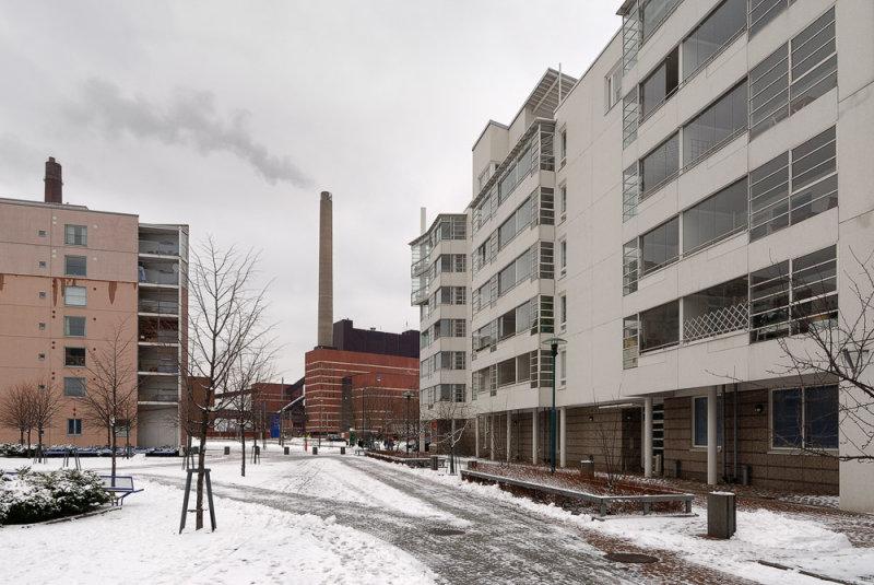 Urban Condos and Power Plant