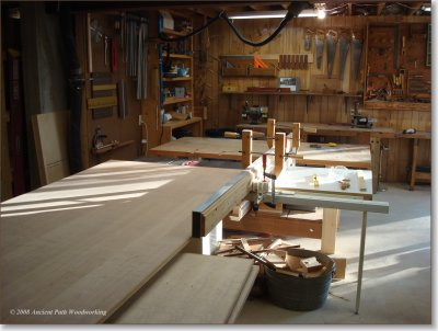 Woodworking Shop and Armoire Building Process