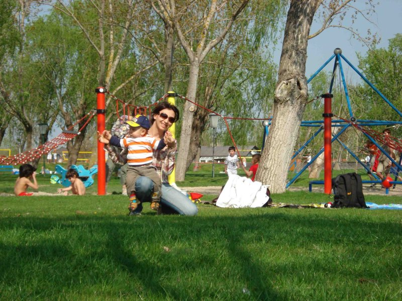 at the play ground