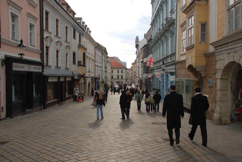 Bratislava, pedestrian zone.