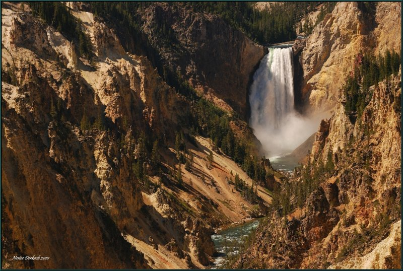 40- Landscape view Lower Falls  of Yellowstone National Park