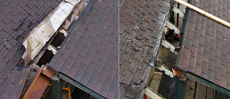 Roofs - before and after